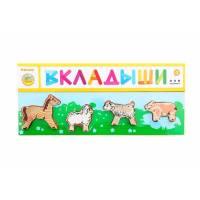 Деревянная игрушка Рамка-вкладыш Домашние Животные Лужок ТОМИК 382-2