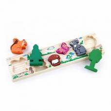 Деревянная игрушка Рамка-вкладыш Животные Лес ТОМИК 362-1