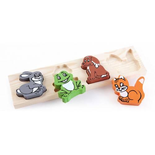 Деревянная игрушка Рамка-вкладыш Животные ТОМИК 451-1