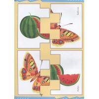Книга Мой веселый алфавит Вырезаем и складываем из бумаги Более 30 умных карточек Питер 978-5-00116-165-3