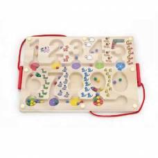 """Деревянная игрушка Лабиринт """"Цифры"""" Viga Toys 50180."""