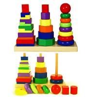 Деревянная игрушка Геометрическая пирамидка Viga Toys 50567
