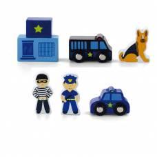 """Деревянная игрушка  Доп. набор к ж/д """"Полицейский участок""""  Viga Toys 50814"""