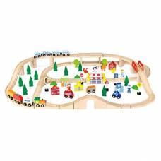 Деревянная игрушка  Железная дорога, 90 деталей Viga Toys 50998