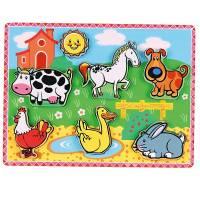 Деревянная игрушка  Рамка-вкладыш Домашние животные Viga Toys 56438