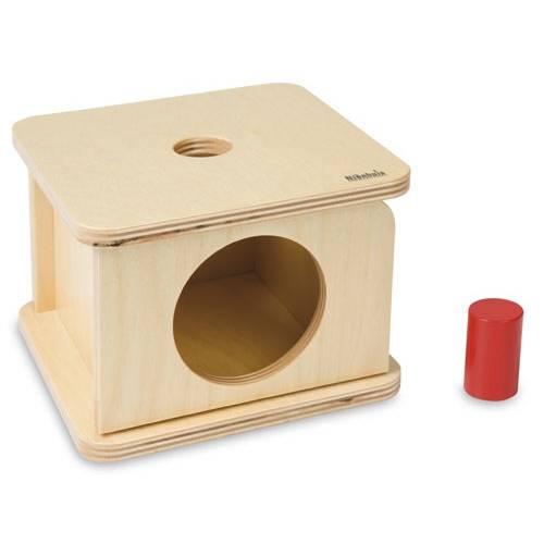 Деревянная игрушка Коробочка с маленьким цилиндром МОНТЕССОРИ 0-52-02