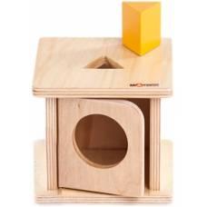 Деревянная игрушка Коробочка с треугольной призмой МОНТЕССОРИ 0-52-03