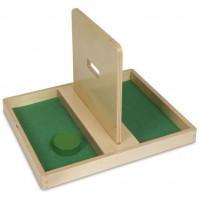 Деревянная игрушка Подносик с отверстием для диска МОНТЕССОРИ 0-58-01