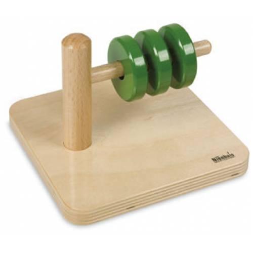 Деревянная игрушка Диски на горизонтальном штырьке МОНТЕССОРИ 0-62-03