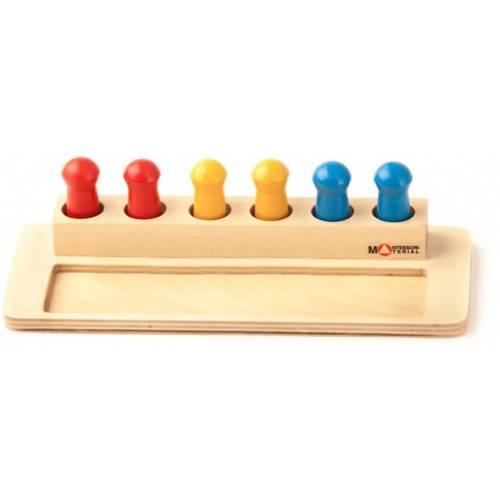 Деревянная игрушка Коробочка с колышками МОНТЕССОРИ 0-64
