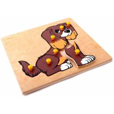 Деревянная игрушка Вкладыши Собачка ЛЭМ 1008