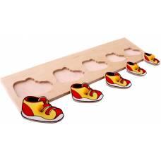 Деревянная игрушка Вкладыши Ботинки ЛЭМ 1017