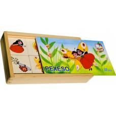 Деревянная игрушка Игра Найди пару: Маковая куколка BINO 13181