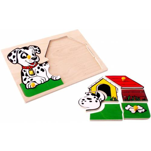 Деревянная игрушка Вкладыши Собачка у будки ЛЭМ 1404
