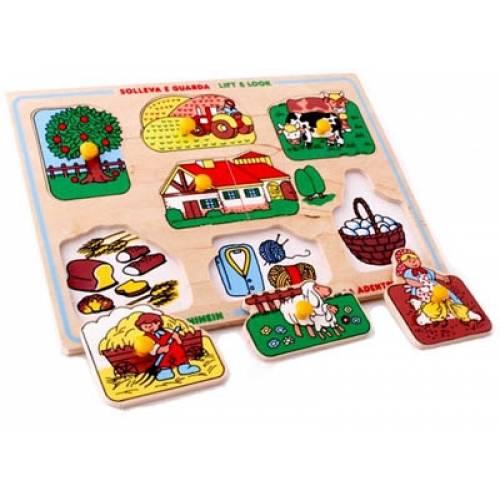 Деревянная игрушка Вкладыши Ферма ЛЭМ 1420