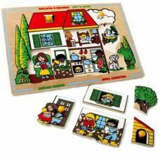 Деревянная игрушка Вкладыши Дом ЛЭМ 1424