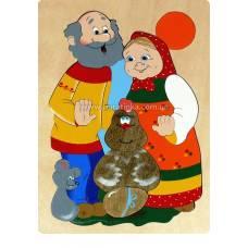 Деревянная игрушка Мозаика Курочка Ряба КРОНА 143-018