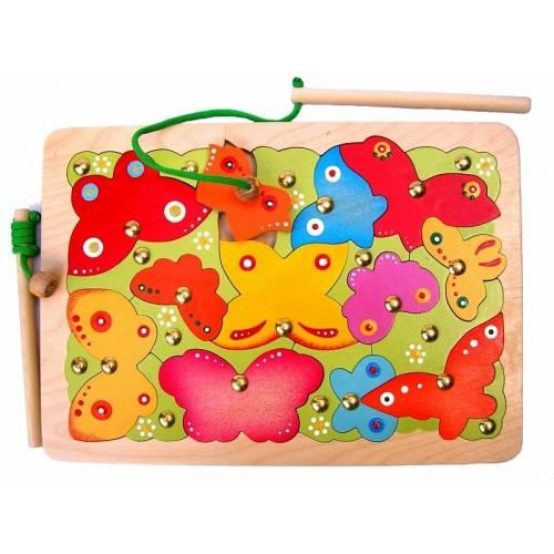 Деревянная игрушка Магнитная мозаика Бабочки КРОНА 143-025