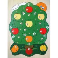 Деревянная игрушка Магнитная мозаика Яблоня-загадка КРОНА 143-027