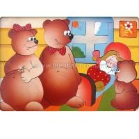 Деревянная игрушка Мозаика Три медведя КРОНА 143-032
