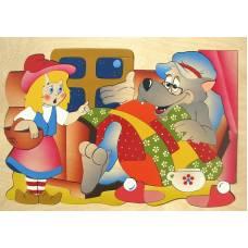 Деревянная игрушка Мозаика Красная шапочка КРОНА 143-035