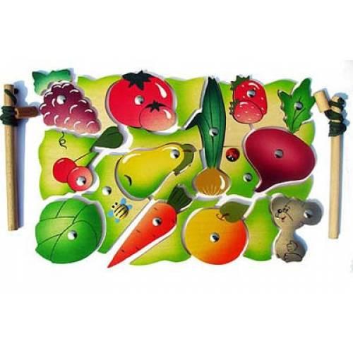 Деревянная игрушка Магнитная мозаика Во саду ли в огороде КРОНА 143-040