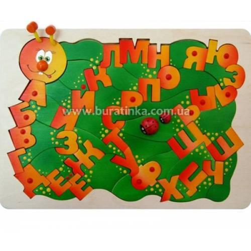 Деревянная игрушка Мозаика Буквоежка КРОНА 143-045