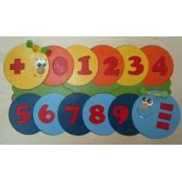 Деревянная игрушка Мозаика Учимся считать с дополнительным набором цифр КРОНА 143-048