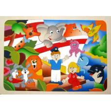 Деревянная игрушка Мозаика Лимпопо КРОНА 143-049
