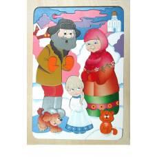 Деревянная игрушка Мозаика Снегурочка КРОНА 143-053