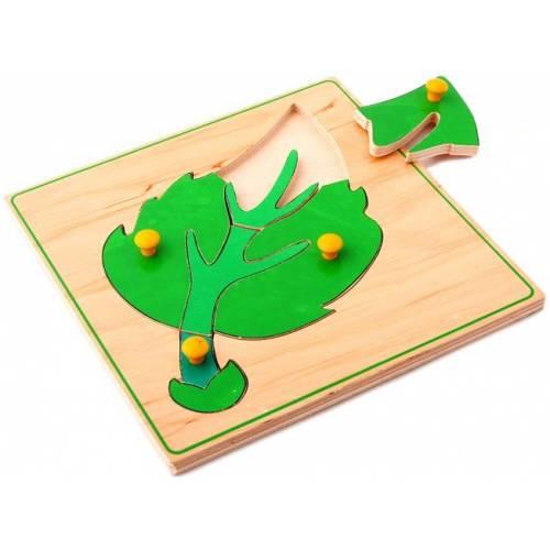 Деревянная игрушка Вкладыши Листок ЛЭМ 1448