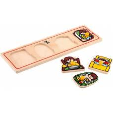 Деревянная игрушка Вкладыши малые Мое утро ЛЭМ 1473