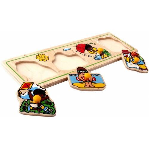 Деревянная игрушка Вкладыши малые Времена года ЛЭМ 1474