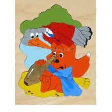 Деревянная игрушка Мозаика Журавль и лиса - 2 КРОНА 153-027