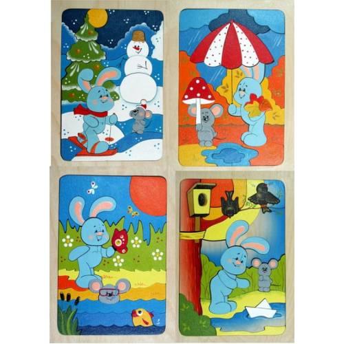 Деревянная игрушка Набор мозаик Круглый год КРОНА 153-030