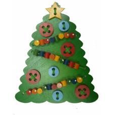 Деревянная игрушка Шнуровка Новогодняя елочка КРОНА 193-009