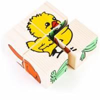 Деревянная игрушка Кубики Сложи рисунок: Животные ТОМИК 3333-1