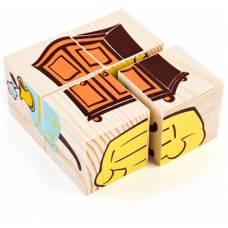 Деревянная игрушка Кубики Сложи рисунок: Мебель ТОМИК 3333-5