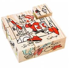 Деревянная игрушка Кубики Сложи рисунок: Герои сказок ТОМИК 4444-2