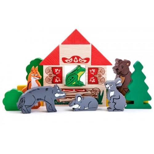 Деревянная игрушка Конструктор Сказки: Теремок ТОМИК 4534-3