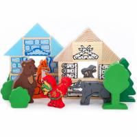 Деревянная игрушка Конструктор Сказки: Зайкина избушка ТОМИК 4534-4
