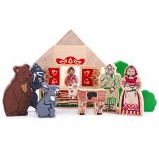 Деревянная игрушка Конструктор Сказки: Смоляной бычок ТОМИК 4534-8