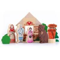 Деревянная игрушка Конструктор Сказки:  Маша и медведь ТОМИК 4534-9