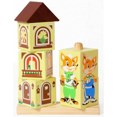 Деревянная игрушка Кубики на палочке Лисенок ТОМИК 4545-1