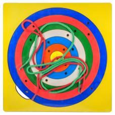 Деревянная игрушка Игра Радужная паутинка окружность ОКСВА 5-1-5