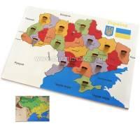 Деревянная игрушка Вкладыши Карта Украины СВЕНА 6001