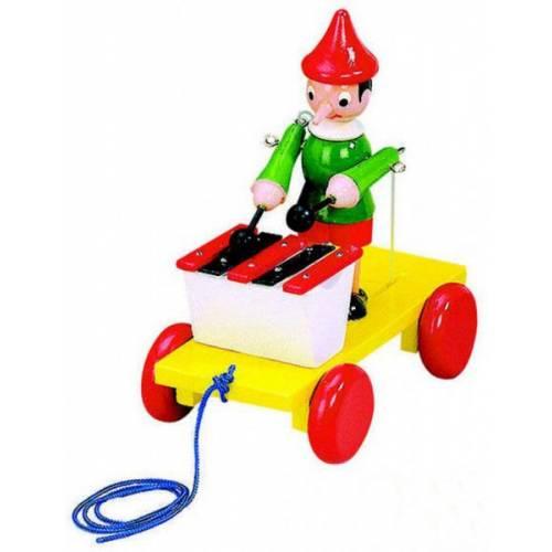 Деревянная игрушка Каталка с металлофоном Пиноккио BINO 80037