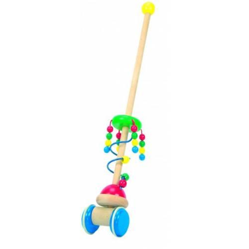 Деревянная игрушка Каталка Жемчужинки BINO 81667