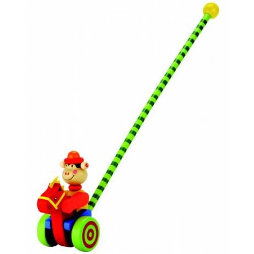 Деревянная игрушка Каталка Обезьянка BINO 81668