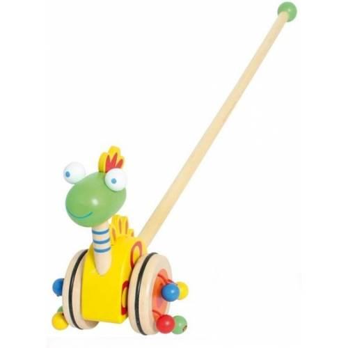 Деревянная игрушка Каталка Динозавр BINO 81671